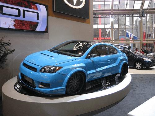 Blue Car At SEMA Show