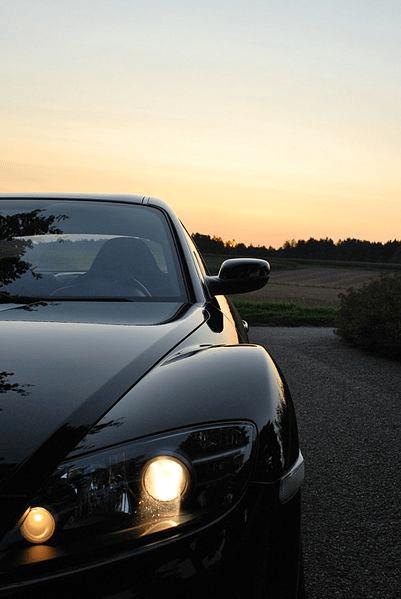 Front Black Mazda RX-8