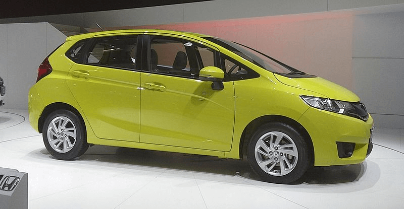 Yellow Honda Fit