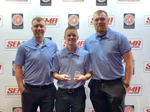 All-Fit Automotive team acceting SEMA awards