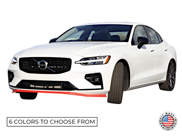"""Red 1.5"""" Lip Kit on a White Volvo"""